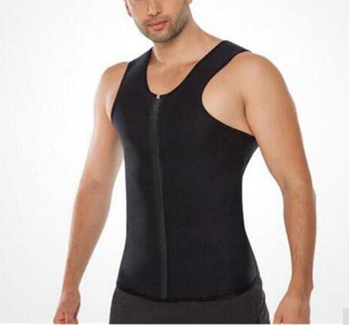 Mens Sweat Neoprene Body Shapers Zipper Vest Tops Slimming Fitness Weight Loss Shapewears Plus Size S-3XL 1