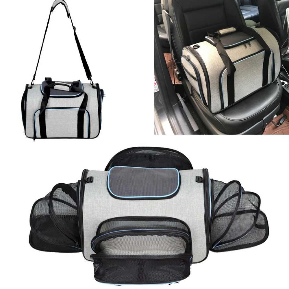 ETHIN Pet carriers four sides expanded dog bag Puppy car travel bag dog carriers pet cat bag slings tote for small animals