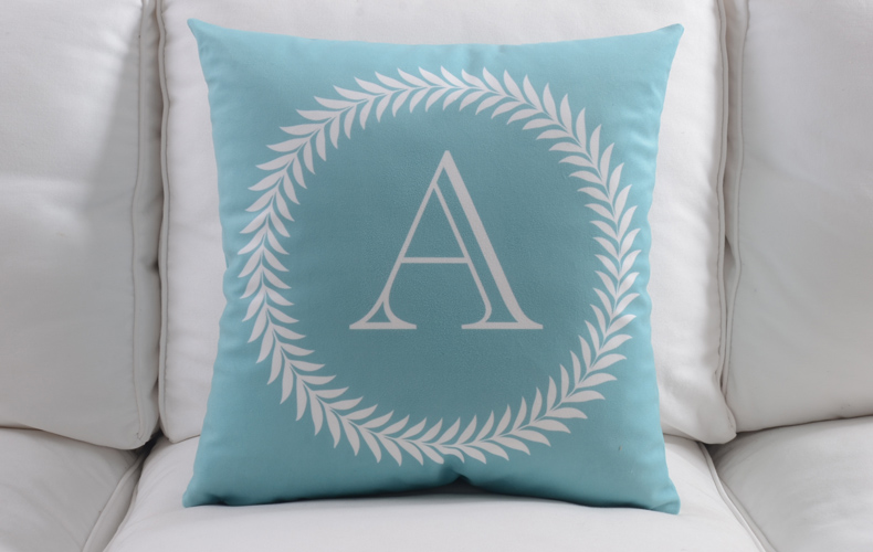 Capital Baby Name Initial Cushion Covers 45X45cm Letter Home Love Life Alphabet DIY Pillow Case Children Bedroom Decoration-in Cushion Cover from Home ... & Capital Baby Name Initial Cushion Covers 45X45cm Letter Home Love ... pillowsntoast.com