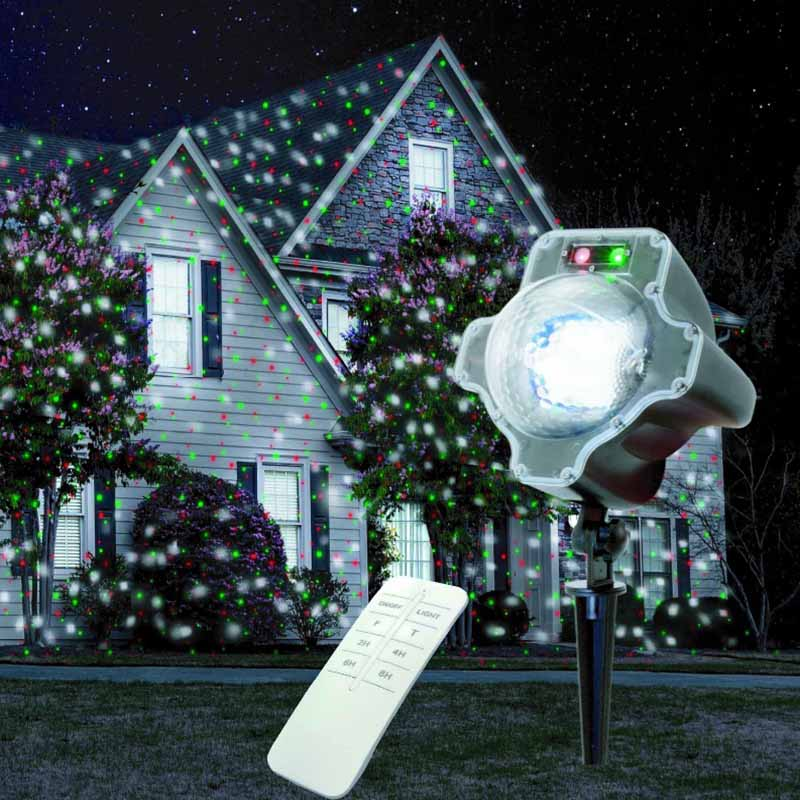 White Snowfall Christmas Light led red green laser Waterproof Decorations Outdoor laser Light for Landscape Garden Holiday Party 20cm free shipping white green red colourful waterproof led floating christmas light ball vc b200