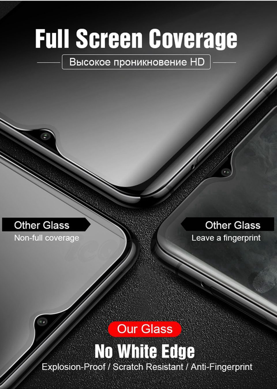 6D Glass for Huawei Honor 10 Lite 9 8X 8C View 20 Nova 3 3i 4 Screen Protector 5D Tempered Glass for Huawei P20 Pro Mate 20 Lite (9)