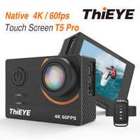 ThiEYE T5 Pro Reale Ultra HD 4K 60fps Dello Schermo di Tocco di WiFi Macchina Fotografica di Azione Con Streaming In Diretta di Controllo Remoto subacquea 60M Macchina Fotografica di Sport