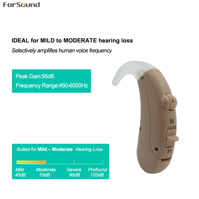 Middle Power Low Price Cheap BTE Hearing Aid NH A13 Battery with Siemens Phonak Hearing Aid Quality