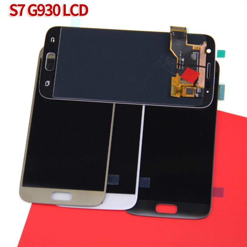 Супер AMOLED телефон ЖК-дисплей для samsung Galaxy S7 G930 G930F G930A G930V G930P G930T мобильные кодирующий преобразователь сенсорного экрана в сборе