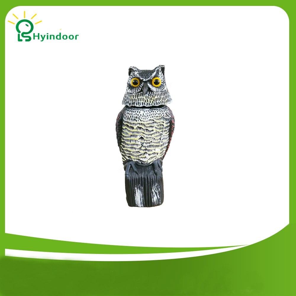 Garden Decoration Plastic Simulation Shaking Owl Resin Decoration 360 Degree Rotary Garden Frightening Bird Bird Repeller