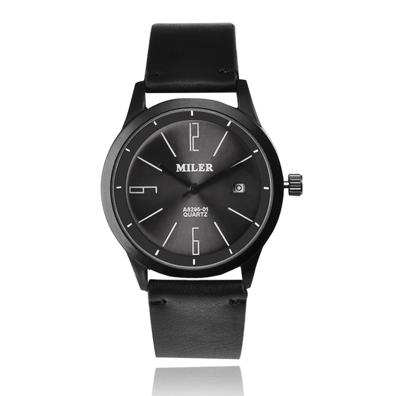 New Fashion Leather Auto Date Watch Men Watch Quartz-Watch MILER Brand Casual Sports Watches Hour montre homme relogio masculino стоимость