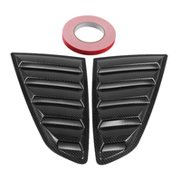 1 Pair Carbon Fiber Black Side Window Scoop Louvers Cover For Ford Mustang