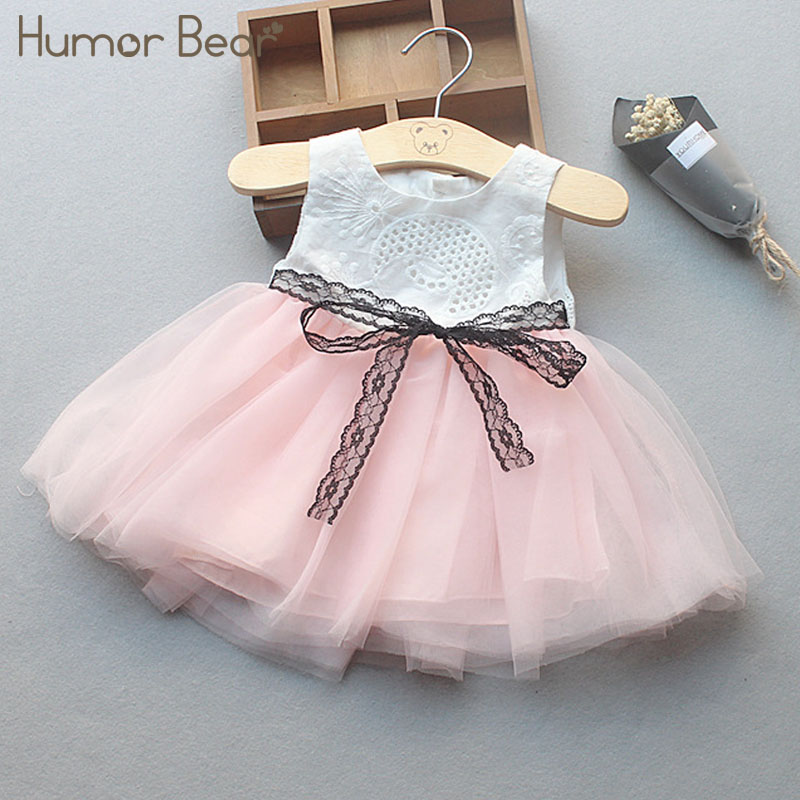 Humor Bear Infant Party Dress 2018 New Summer Baby Girls Clothes Lovely Fashion Baby Birthday Dress am 704 фигурка обезьяна все расскажу латунь янтарь