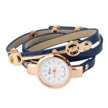 Женская мода PU Кожаный Браслет Кварцевые Часы Платье Часы Relojes Mujer Relogio Feminino Часы