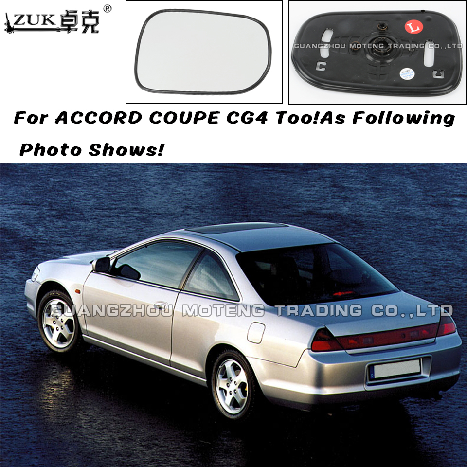 Zuk Left Right Outer Rearview Mirror Glass Lens For Honda Accord Cg1