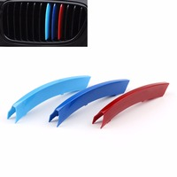 Areyourshop Car Front Kidney Grill Grill M Style Decal 3 Color Buckle Decal For BMW X5