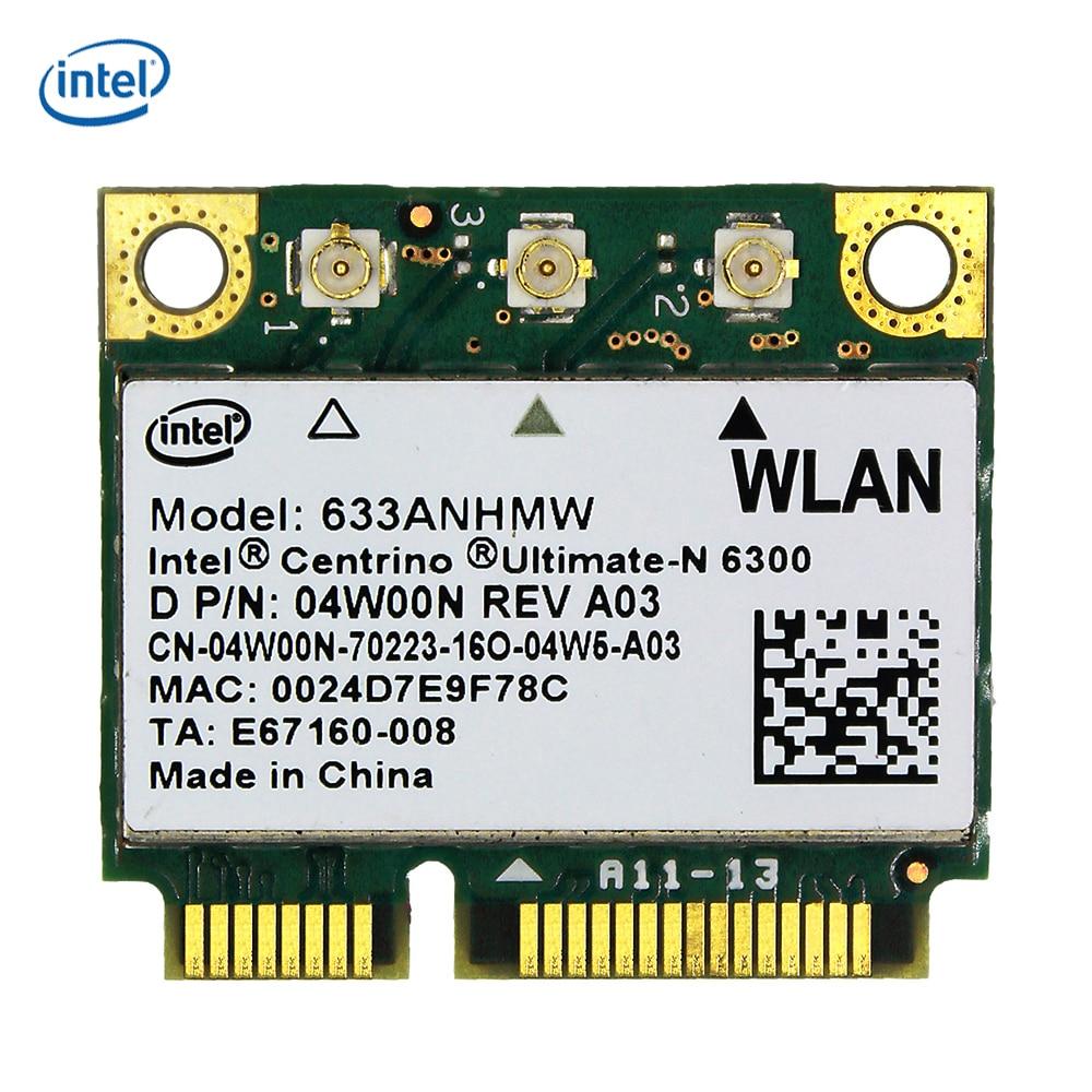 Intel Wireless Adapter 6300 633ANHMW 6300AGN Mini PCI E Half