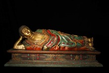 Collecting Old Chinese handmade pure copper inlaid Semi-precious stones turquoise Sleeping Buddha sculpture/Sakyamuni statue collecting old chinese handmade pure copper inlaid semi precious stones turquoise sleeping buddha sculpture sakyamuni statue