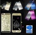 Alta Calidad 2 UNIDS 3D Diamante Espejo Protector de Pantalla de Cristal Templado para el iphone 6 6 S Frente + Trasero de Cristal Templado Flim XY600