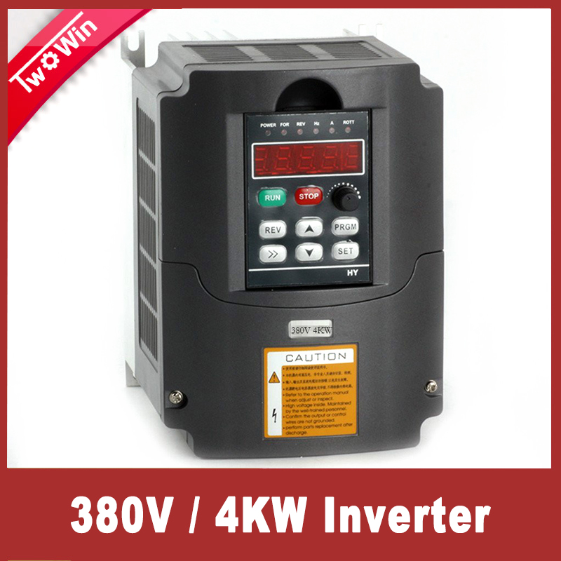 <font><b>4KW</b></font> AC 380V 3HP VFD Variable Frequency Drive VFD Inverter 3 Phase Input 3 Phase Output Frequency Inverter for Spindle <font><b>Motor</b></font> image