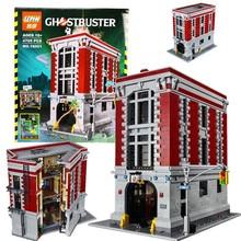 НА СКЛАДЕ Бесплатная доставка Новый ЛЕПИН 16001 4695 Шт. Ghostbusters Пожарной Штаб Модель Строительные Наборы Модели установлен Совместимый С