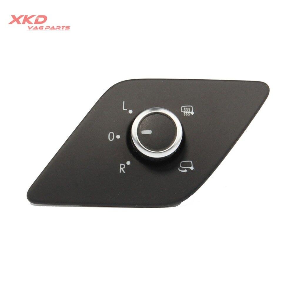 Chrome Side Mirror Switch Knob W// Heat /& Fold Function For Jetta MK6 12-14