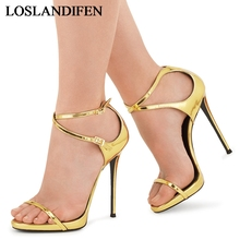 2018 New Arrival Plus Big Size 34-46 Gold Buckle Fashion Sexy High Heel Summer Girl Female Ladies Women Sandals Shoes TL-A0024 new plus big size 34 46 sandals ladies platforms lady fashion dress shoes sexy high heel shoes women pumps b35
