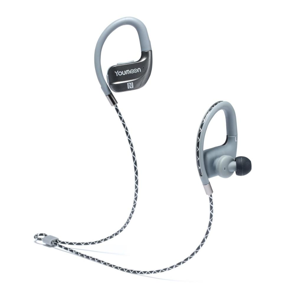 Wireless Bluetooth In-Ear Earbuds Noise Isolating Water Resist Sport Earphone with Mic and Controller raysun® metal diamond studded in ear noise isolating headphone earbuds earphone with remote
