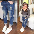 new spring autumn 2017 summer fashion children kids girls denim jeans pants trousers for kids casual clothing retail 2-7 years