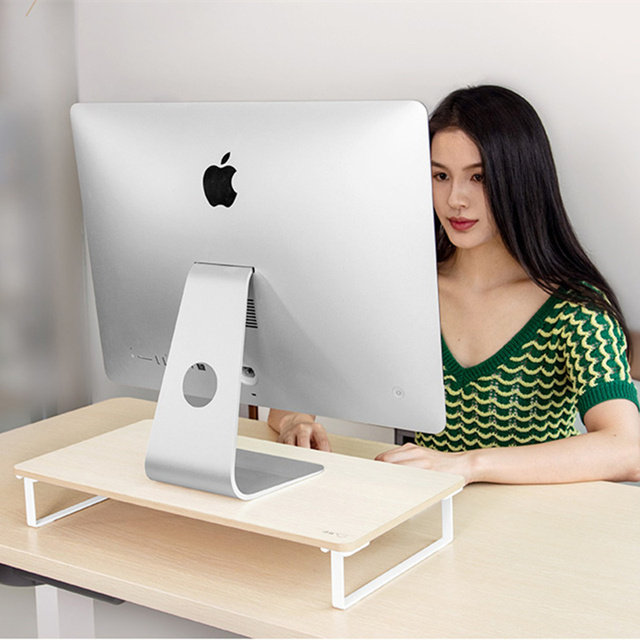 Monitor Riser Holder LCD LED Display Heighten Base Laptop Stand Desktop Spacing Saving Lapdesk for iMac