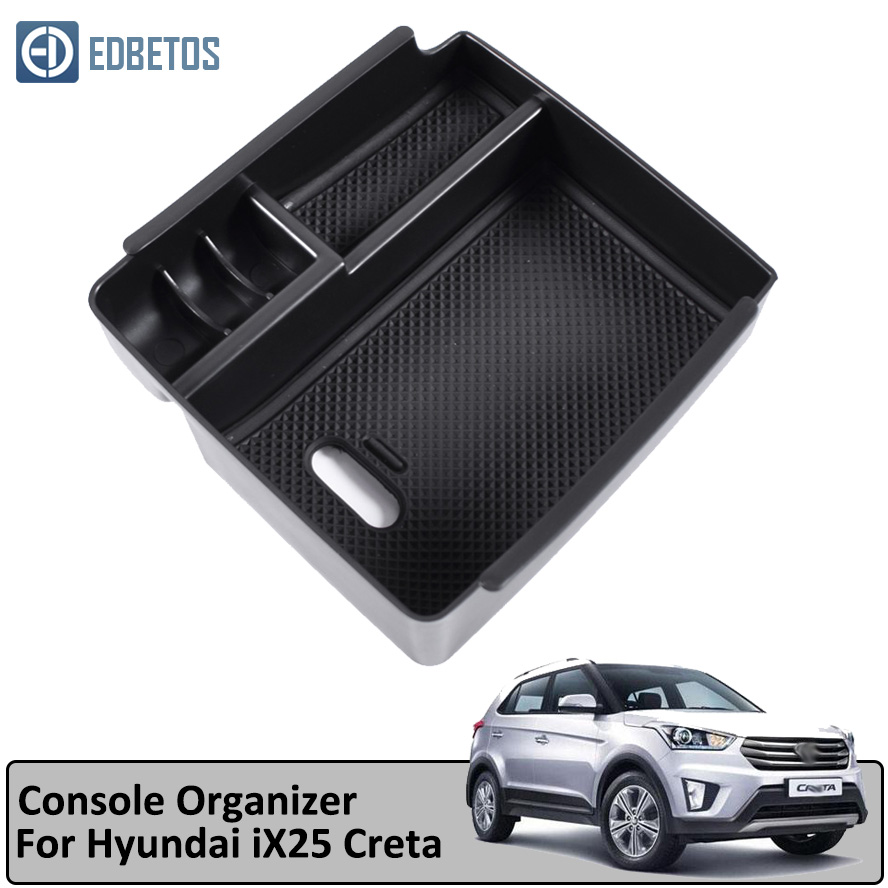 IX25 Creta Armrest Storage Box for Hyundai IX25 Creta Central Console Organizer Stowing Tidying Holder Tray-in Stowing Tidying from Automobiles & Motorcycles