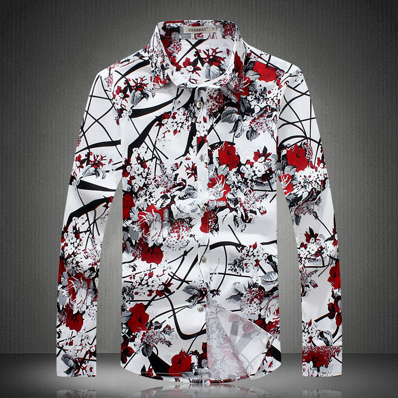 Compare Prices on Mens Shirt Flowered Print- Online Shopping/Buy ...