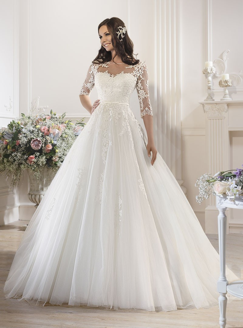 Hot sale High Quality  upgrade lace decoration wedding dress  princess formal dress party dress