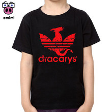 Baby Kid Game of Thrones Cotton T-shirts Little Boy and Girl Short Sleeve Soft Dracarys Sport Tee Tops Brand Clothes