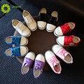 Jrqiot 2017 otoño nuevos niños shoes de lona ocasional sólido blanco niños inferiores suaves niños girl shoes wearable