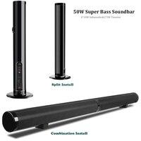 Звуковая панель, 50 Вт сильный бас Разъемный Саундбар с двумя диафрагмами беспроводной проводной Bluetooth домашний аудио динамик для ТВ телефон