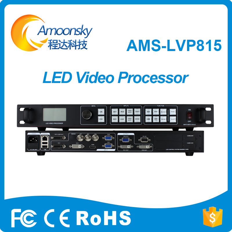 shenzhen amoonsky tube led video wall controller lvp815 for digital signage video wall transparent led display dmx512 digital display 24ch dmx address controller dc5v 24v each ch max 3a 8 groups rgb controller
