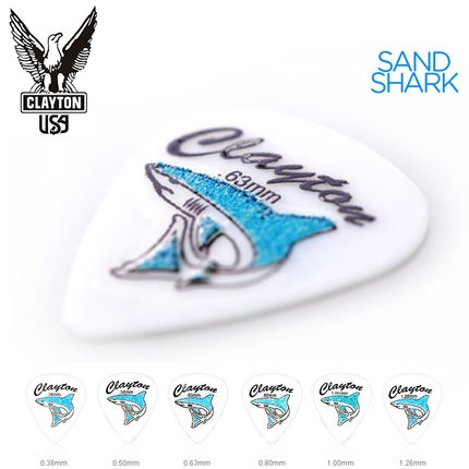 Clayton Sand Shark Acetal Grip Guitar Pick Plectrum Mediator