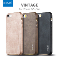 X Level Leather Phone Cases For Iphone 5 5S SE Simple Fashion Protective Smartphone Back Cover