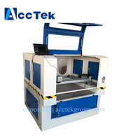 Top Sale AccTek Factory Supplier Fully Enclosed 20W 30W 50W Fiber Laser Marking Machine With Red