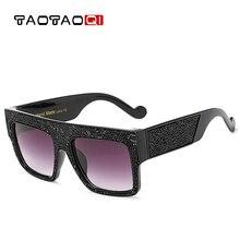 TAOTAOQI Luxury Women Plastic Water Drill Big Frame Sunglasses Women B