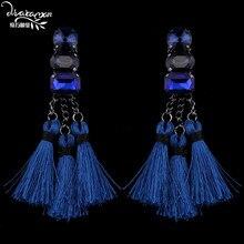Dvacaman Brand 2017 New Boho Ethnic Long Drop Earrings Women Cheap Rope Chain Tassel Hanging Earrings Jewelry Gift Wholesale H77