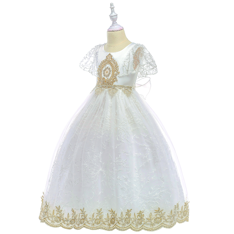 2019 New Girl Princess Check Spanish Dress Headwear Party Pageant Prom 3-12Y
