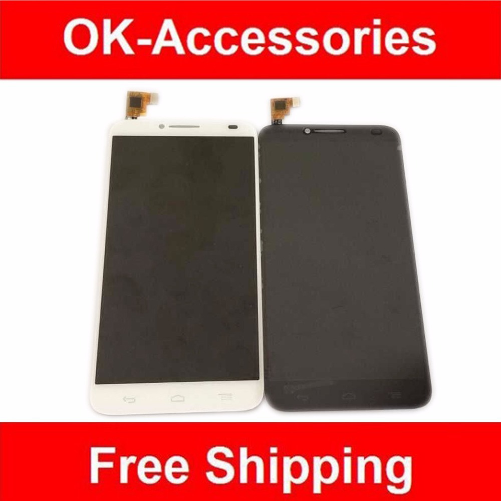 Black White Color For Alcatel One Touch Idol 2 OT6037 6037 LCD Display Touch Screen Digitizer