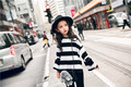 2017 spring new striped sweater thin Korean version of the girl princess high fashion spring long sleeve T age from 4-15T