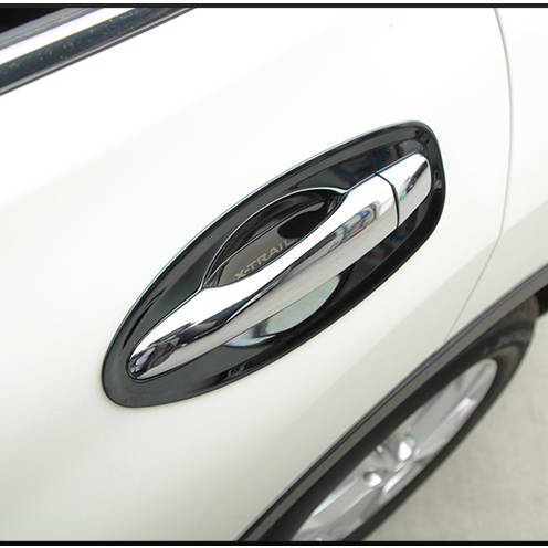 New Design 3 color Stainless steel Interior or Outside Door Handle Bowl For Nissan X trail Rogue 2014 2018 Accessories|Chromium Styling|   - title=