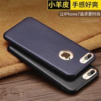 Hot verkoop Nieuwe mode 5 Kleuren merk voor iPhone 7 Real echt lamsleren cover Telefoon Case voor iPhone 7 plus case