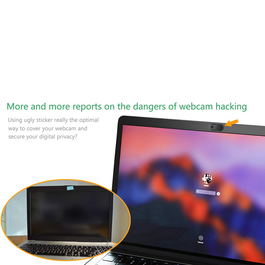 Image 4 - 3 Pack Black Aluminum Alloy Webcam Cover Camera Privacy Sticker for Phone Laptop Tablet T1-in Webcams from Computer & Office