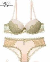 Sexy Bra Sets Lace Embroidery VS Bra Push Up Bras Brief Sets 1/2 Cup Plus Size Bra Set