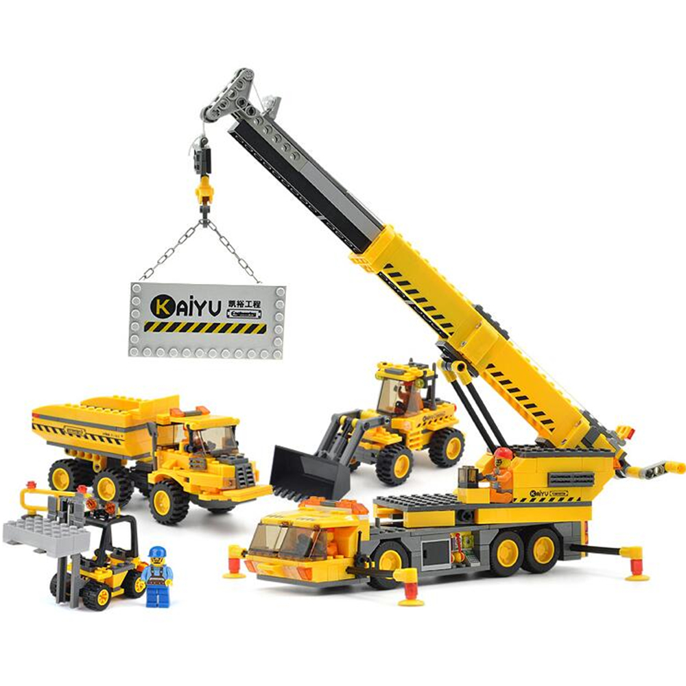 2017 NEW HOT Kazi City Crane Building Blocks Sets Model 380pcs Educational DIY Bricks Toys 8045 Toys For Children Gift new original kazi 6409 city truck model building blocks sets 163pcs lot deformation car bricks toys christmas gift toy sa614