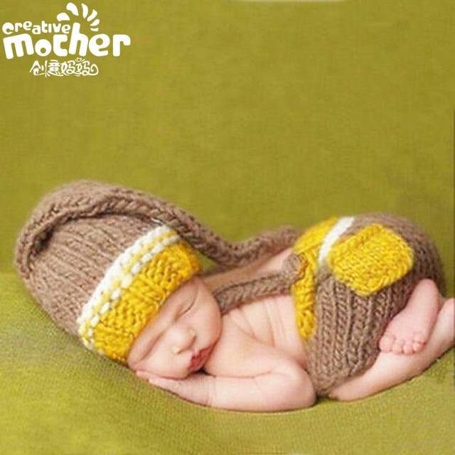 Crochet Newborn Fotografía Atrezzo Bebé Conejito Traje de Conejo ...