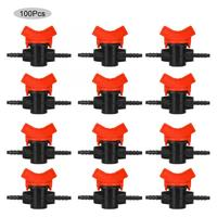 Pvc Agriculture 100PCS Garden PVC Pipe Quick Adjust Valve Straight Hose Stop Valve 2 Way Joint Tool Ball Valve Connector Lead