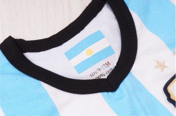 f5de61943a4 2014 Argentina jerseys Baby cotton soccer jersey Rompers,Newborn infants BB  Argentina football clothes baby coveralls sportswear-in Soccer Jerseys from  ...