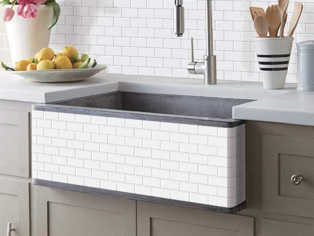 € 35.82 |Cuisine dosseret carreaux Peel and Stick blanc brique métro pour  cuisine, salle de bain 10 pièces 12 \'\'x 12\'\'-in Stickers muraux from ...