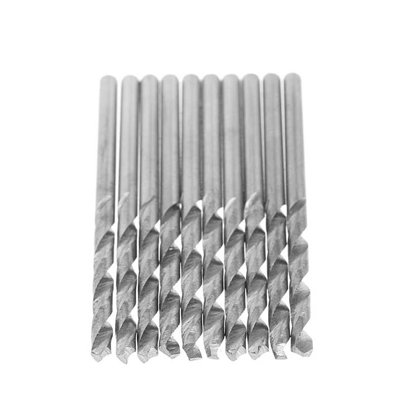 10Pcs/Set Multifunction Tiny Micro HSS 0.8mm Straight Shank Twist Drilling Bit